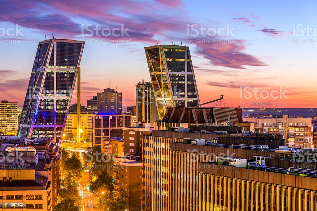 Madrid Financial District stock photo