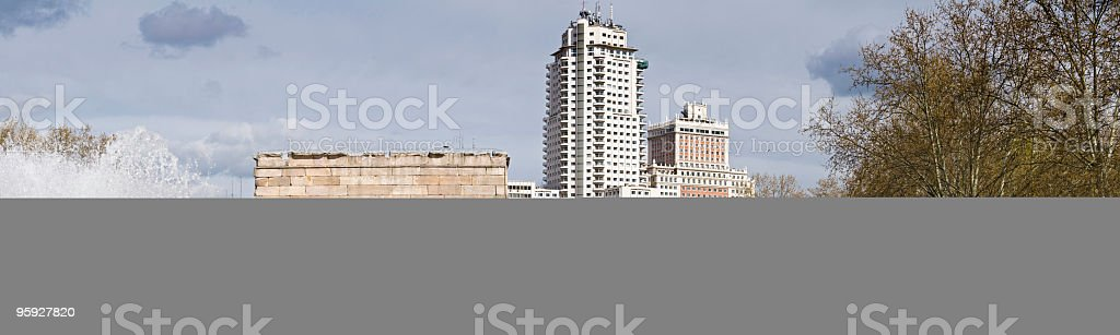 Madrid fountains and towers royalty-free stock photo