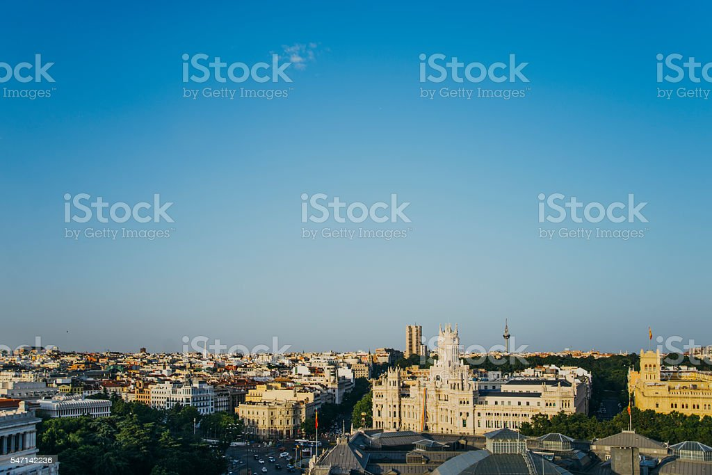 Madrid from above stock photo