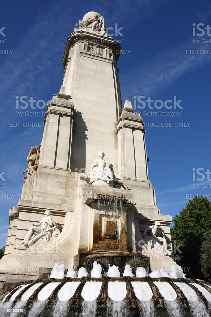 Madrid monument stock photo