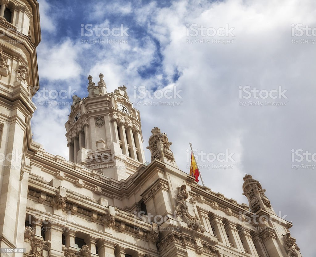 Madrid: Palace in Cibeles square royalty-free stock photo