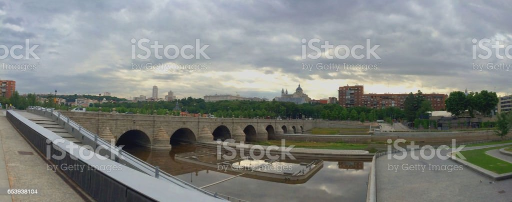 Madrid Panorama stock photo
