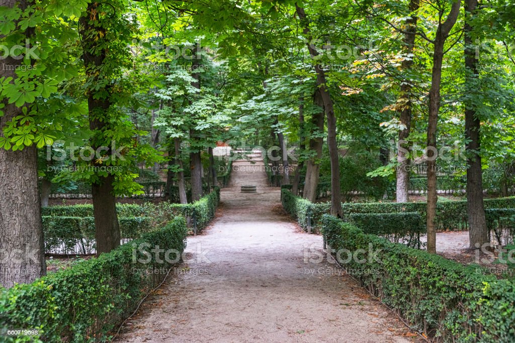 Madrid (Spain): Park of Buen Retiro stock photo