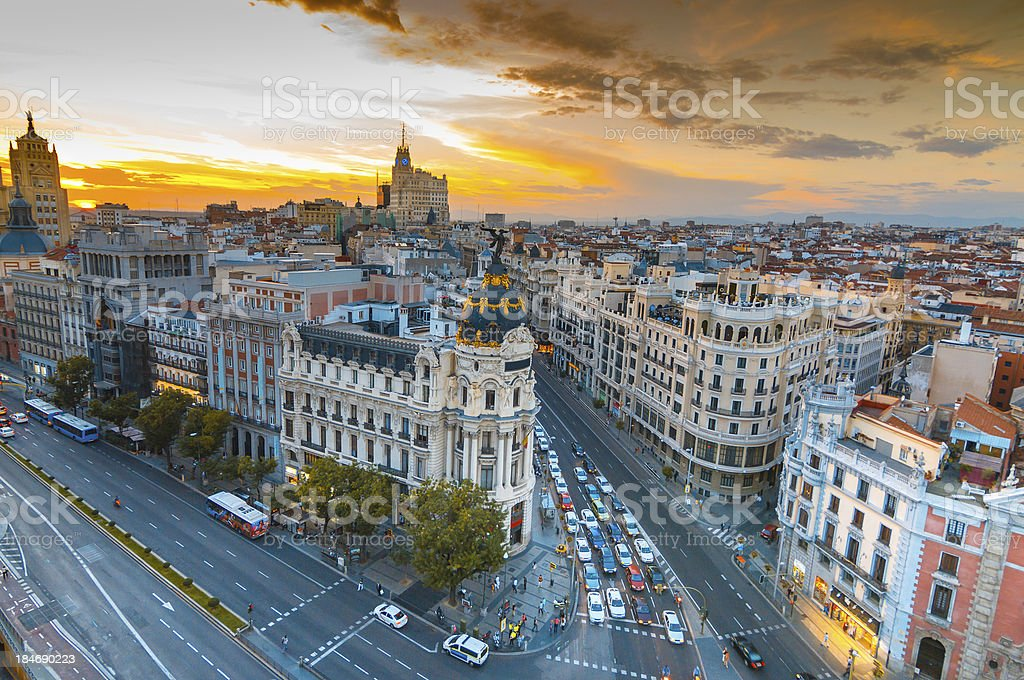 Madrid stock photo