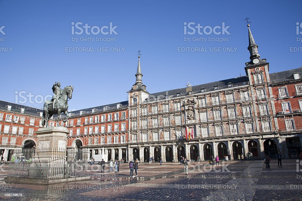 Madrid - Plaza Mayor in morning ligh royalty-free stock photo