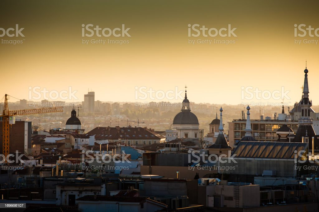 Madrid Rooftops royalty-free stock photo