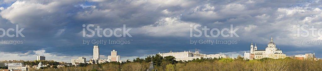Madrid skyline panorama royalty-free stock photo