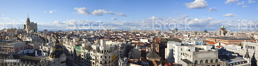 Madrid skyline stock photo
