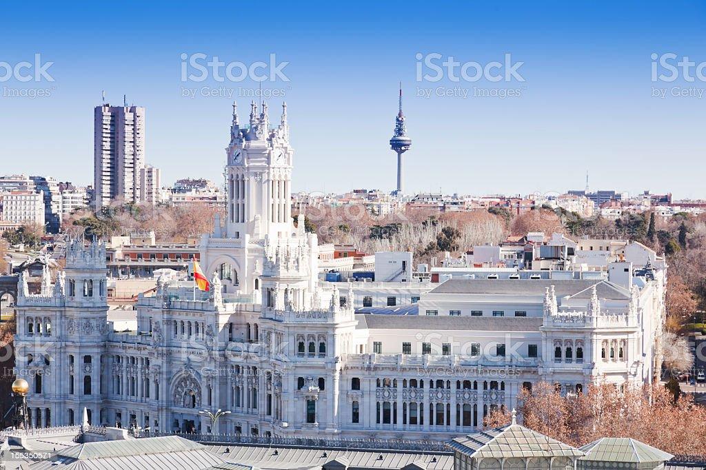 Madrid skyline royalty-free stock photo