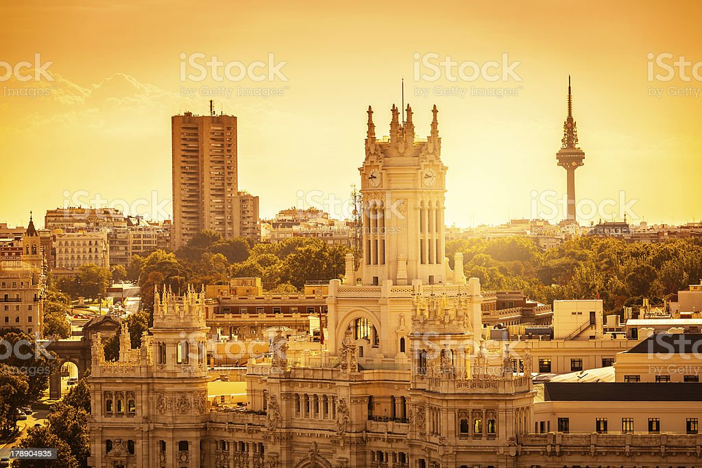 Madrid Skyline stock photo