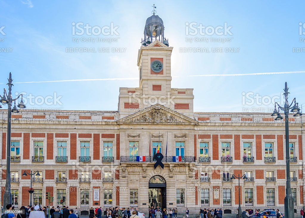 Madrid. Solidarity with the victims of the attempts of Paris. stock photo