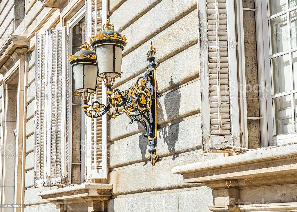 Madrid, Spain - Lightpost stock photo