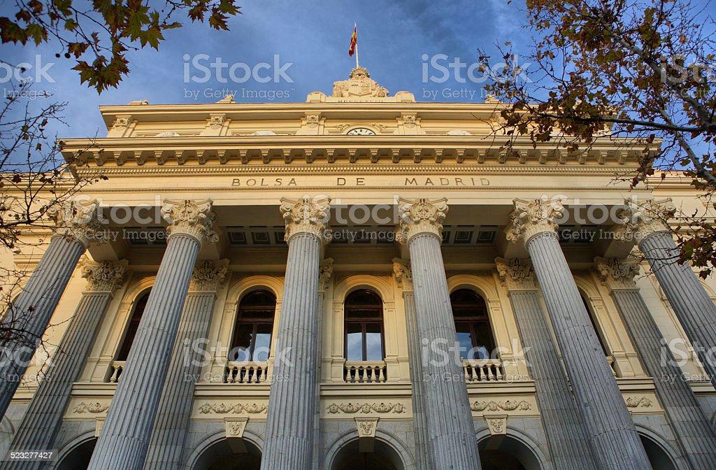 Madrid stock exchange stock photo