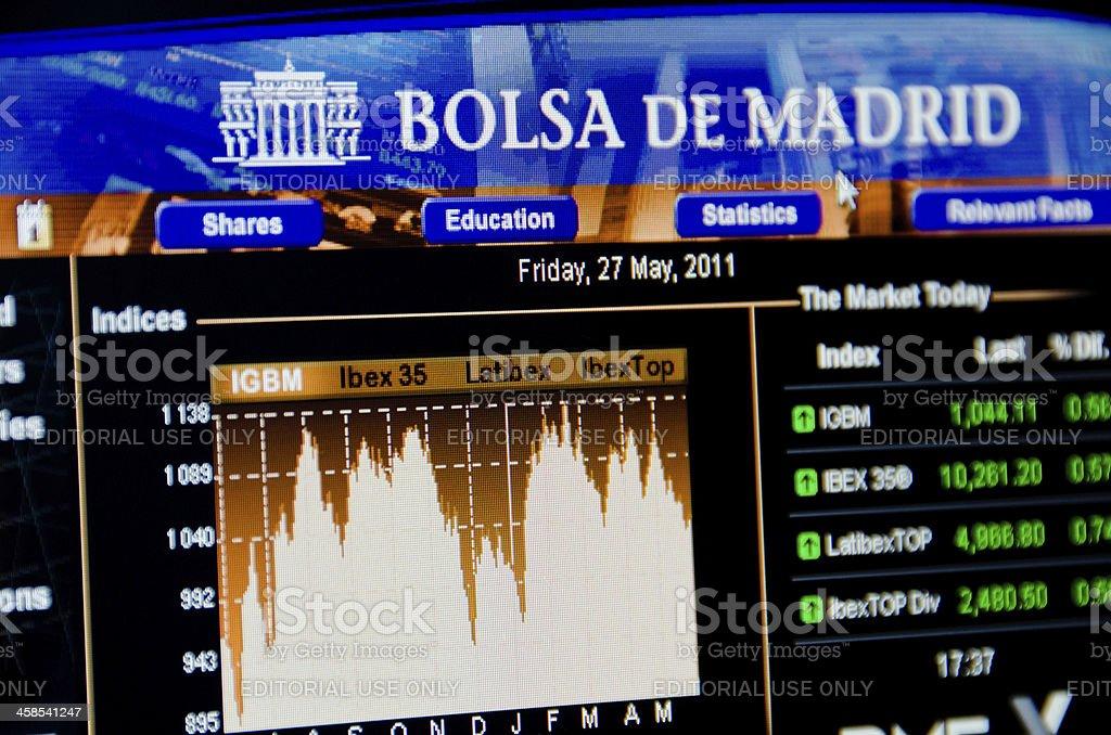 Madrid Stock exchange, Spain EU stock photo