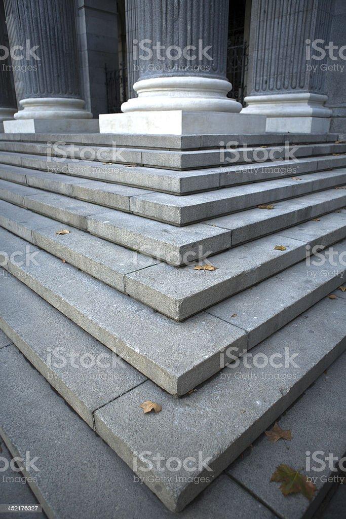Madrid stock exchange stairs stock photo