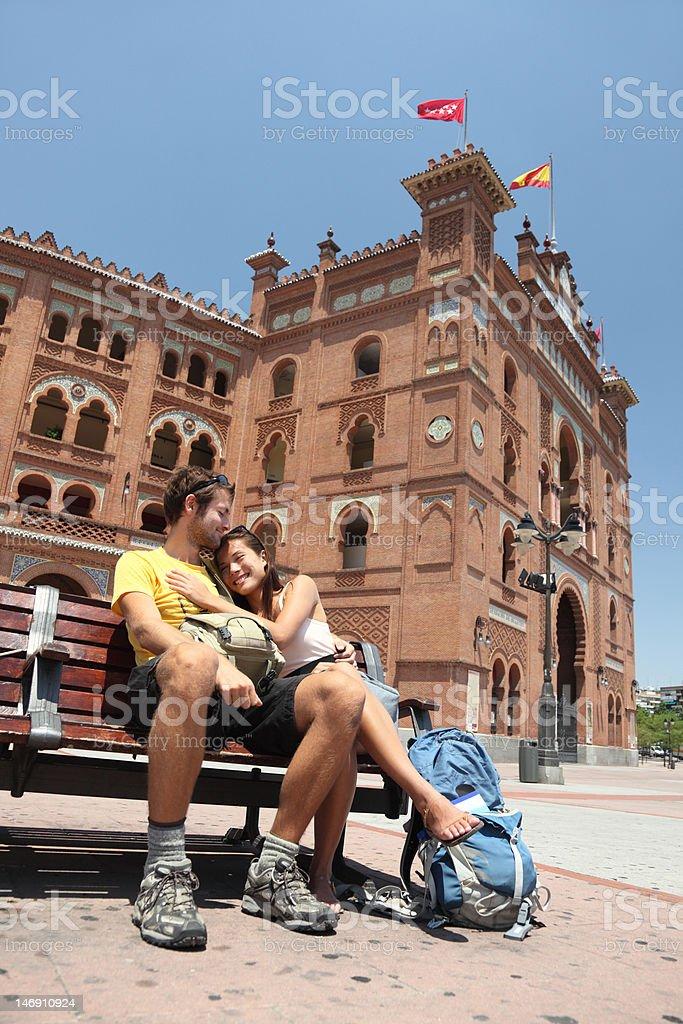 Madrid tourists - Plaza Toros de Las Ventas, Spain stock photo