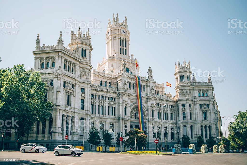 Madrid Town Hall stock photo