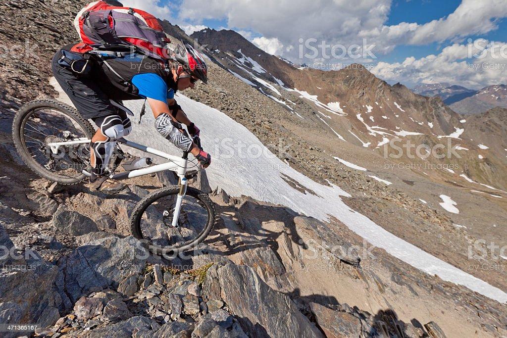 Madritsch rocky downhill, South Tyrol stock photo