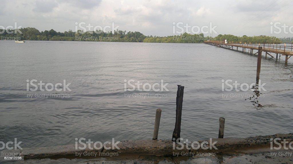 Madu River stock photo