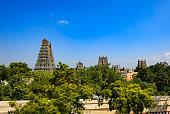 Madurai, India - Gopurams of the Meenakshi Amman Temple