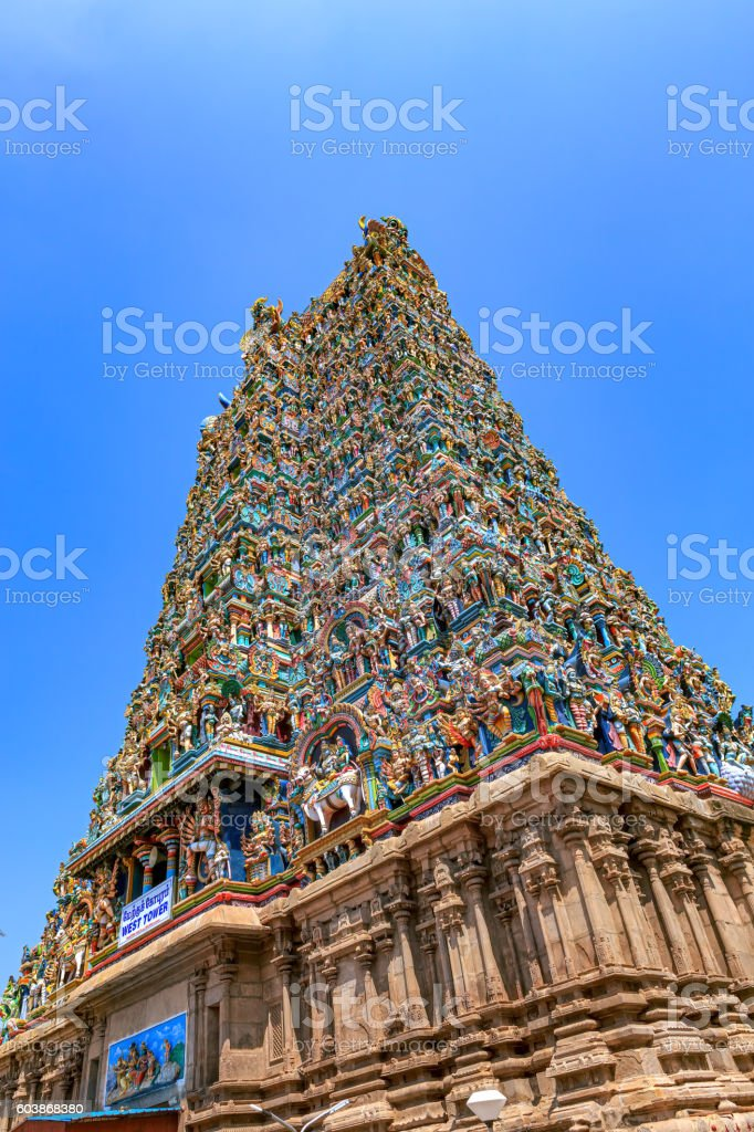 Madurai, India - Meenakshi Amman Hindu Temple stock photo