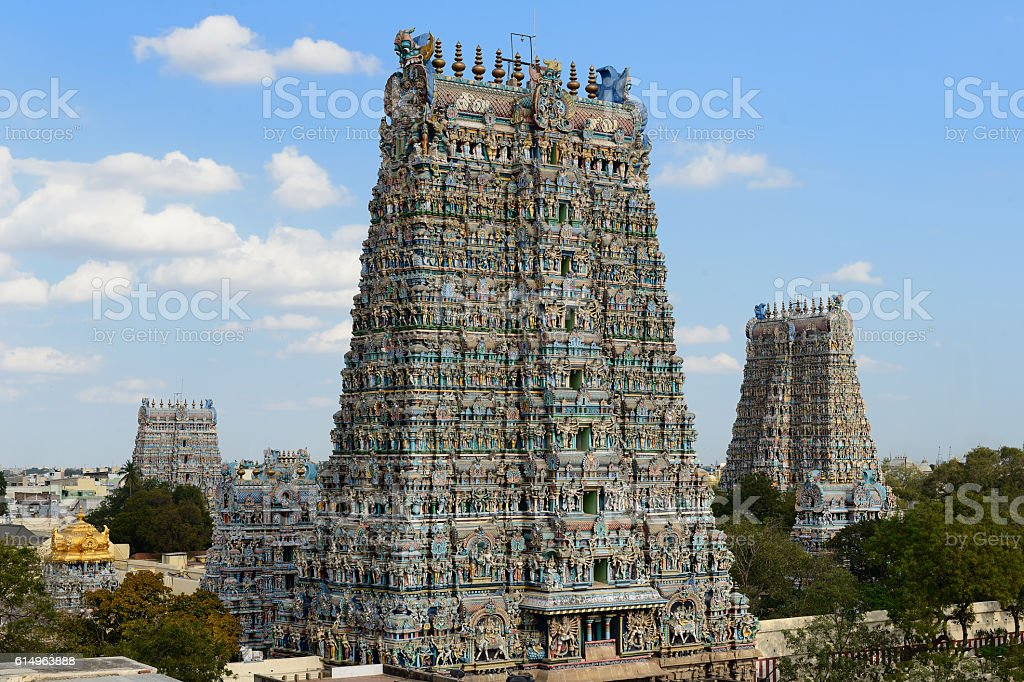 Madurai temple stock photo