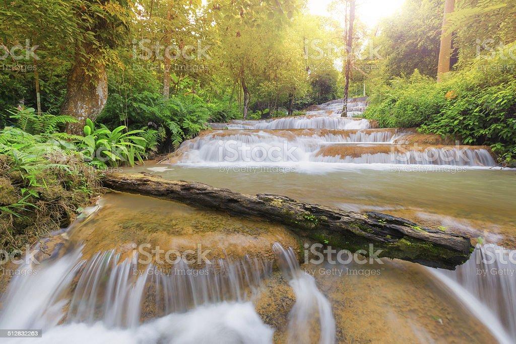 Mae Kae Wasserfall Lizenzfreies stock-foto