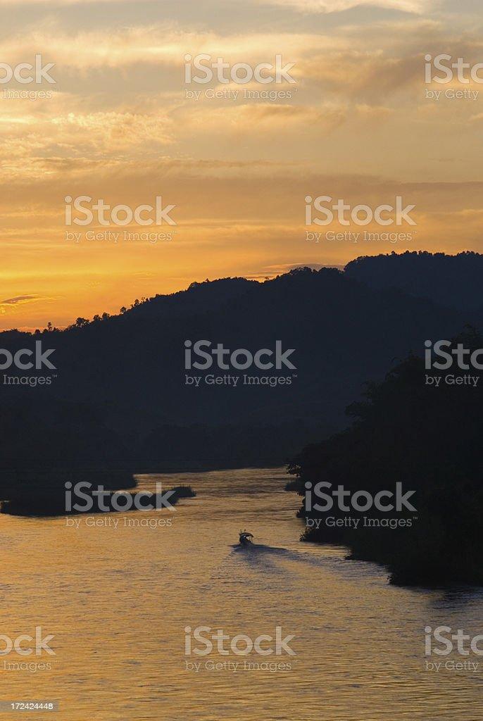 Mae Kok River royalty-free stock photo