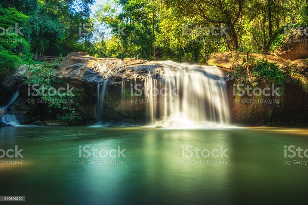 Mae Sa waterfall in Doi Suthep-Pui National Park royalty-free stock photo