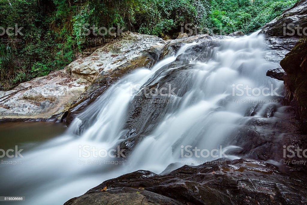 Mae Sa waterfall in Doi Suthep-Pui National Park royalty-free stock photo