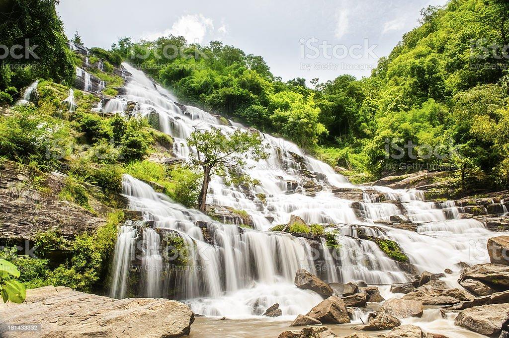 Mae Ya Waterfall Chiang mai Thailand royalty-free stock photo