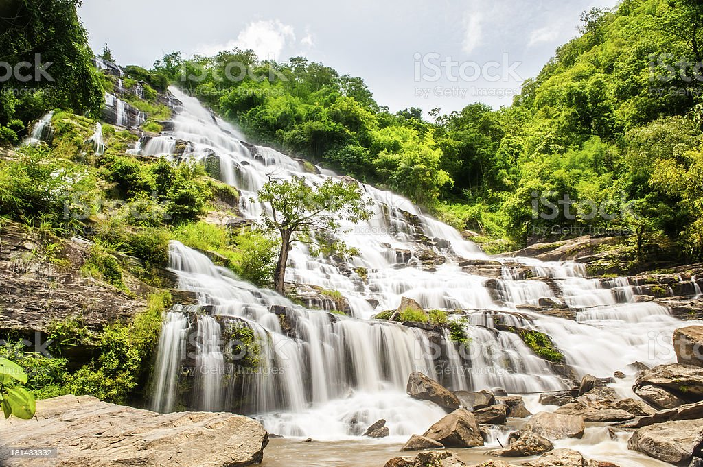 Mae Ya Waterfall Chiang mai Thailand stock photo