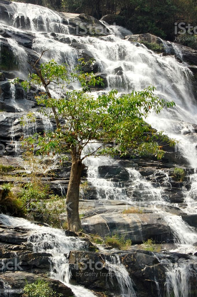 Mae Ya waterfall, Doi Inthanon National Park - Thailand stock photo