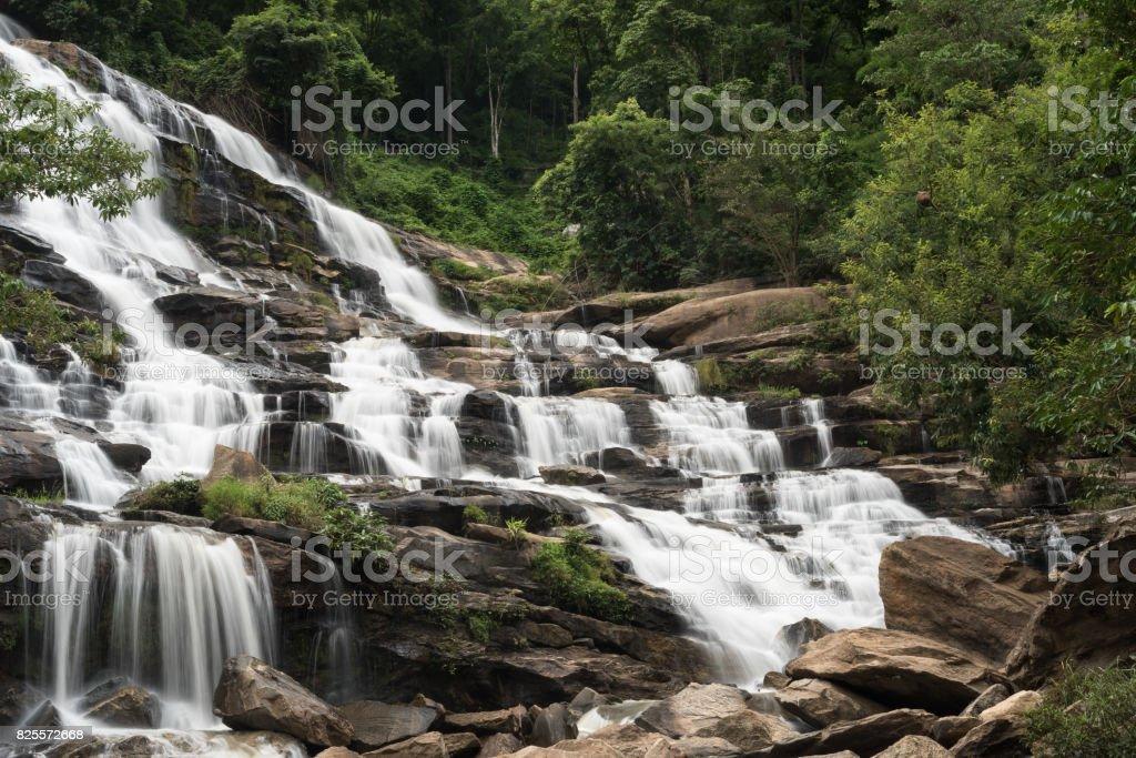 Mae Ya waterfall in Doi Inthanon national park, Chiang Mai, Thailand stock photo