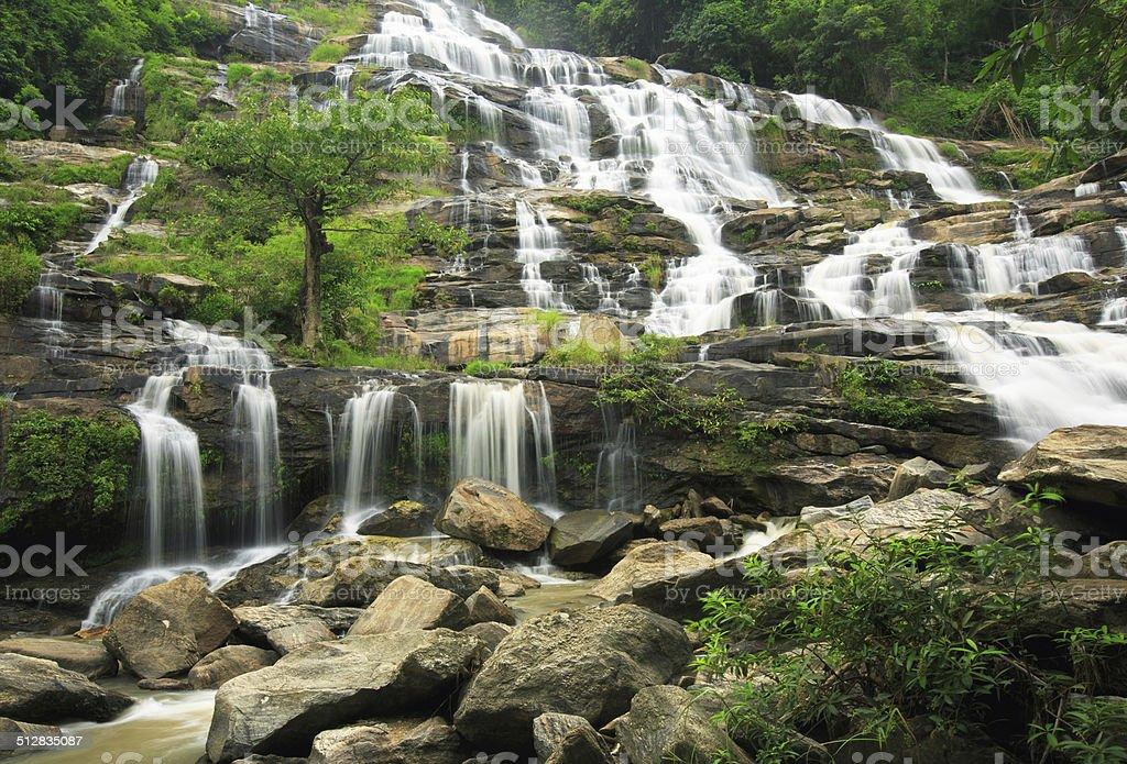 Mae-klang Wasserfall in Doi Inthanon national park, Chiang Mai Lizenzfreies stock-foto