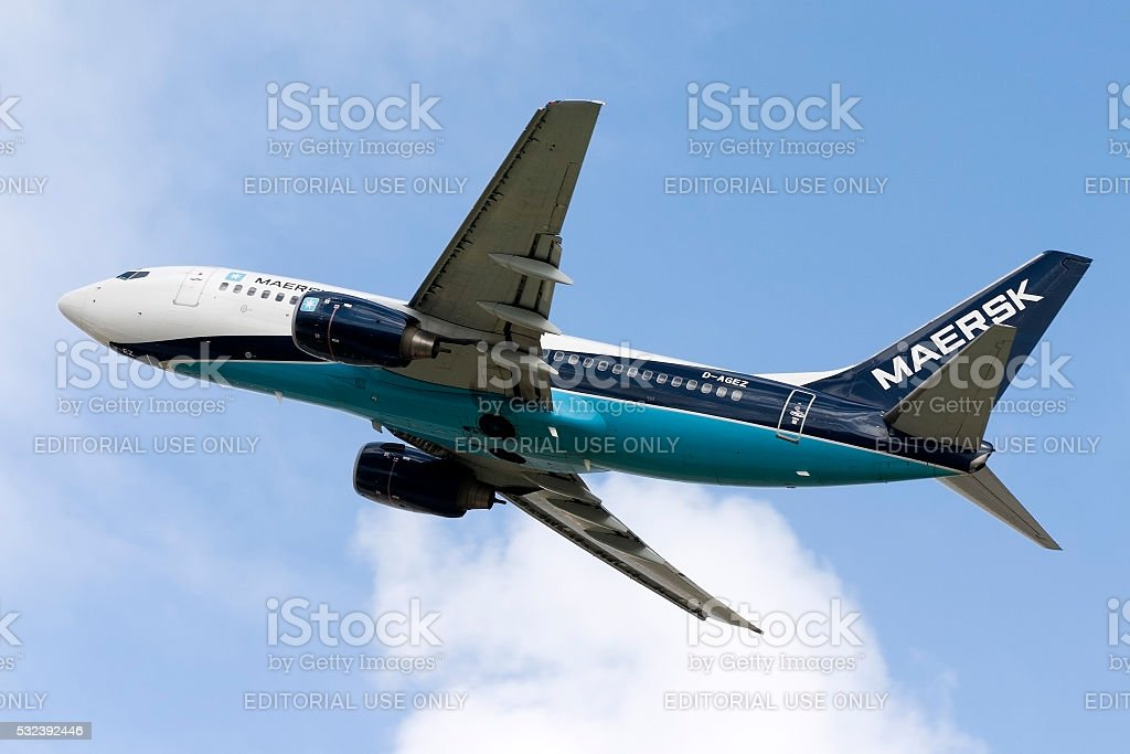 Maersk Air, later absorbed in Sterling Airways, Boeing 737 stock photo