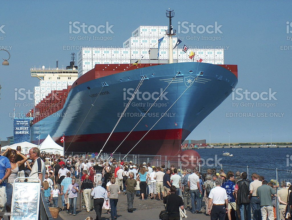 Maersk Line Container ship Albert stock photo