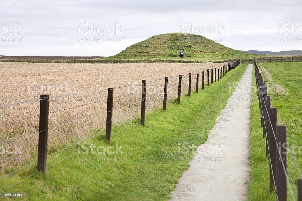 Maeshowe Neolithic Tomb, Orkney stock photo