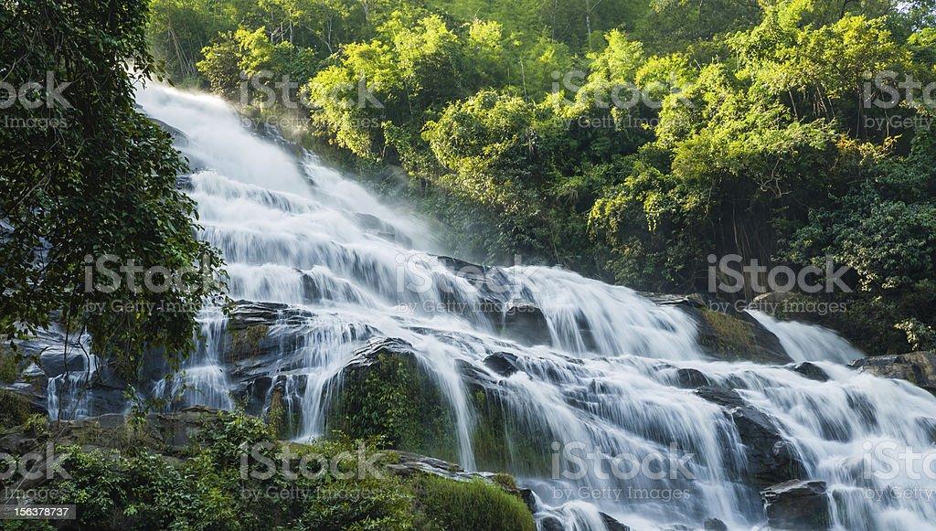 maeya water fall of chiangmai thailand royalty-free stock photo