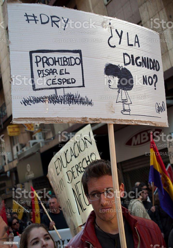 Mafalda sketch stock photo