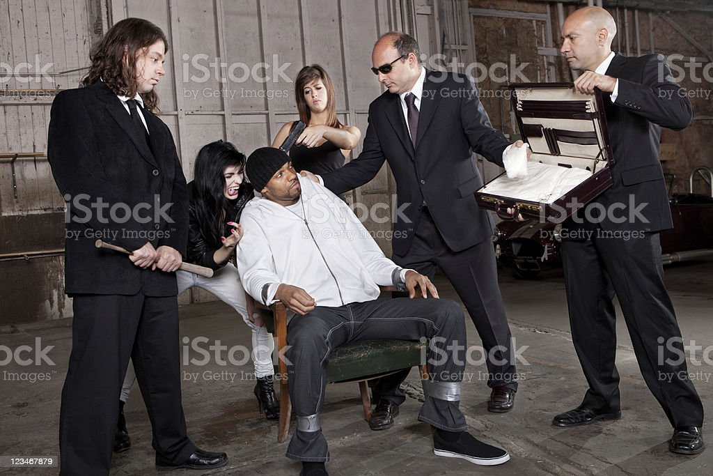 Mafia drug deal gone wrong royalty-free stock photo