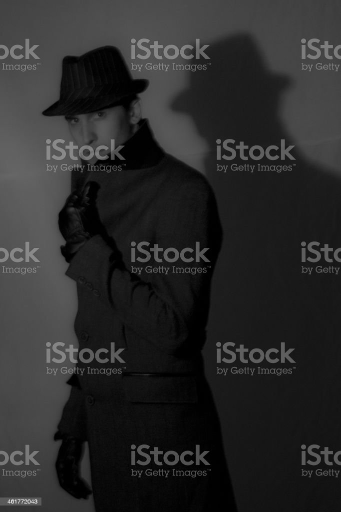 Mafia Gangster royalty-free stock photo