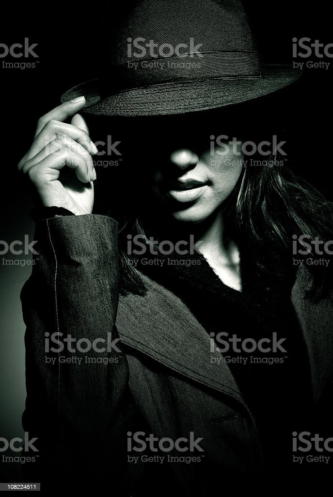 mafia girl stock photo