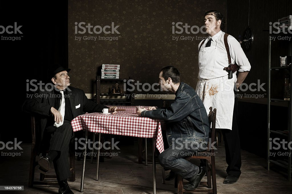 mafia story stock photo