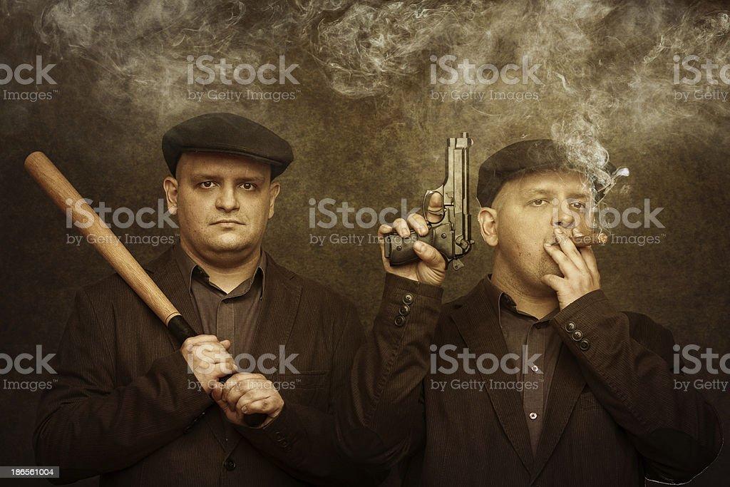 mafia twins royalty-free stock photo