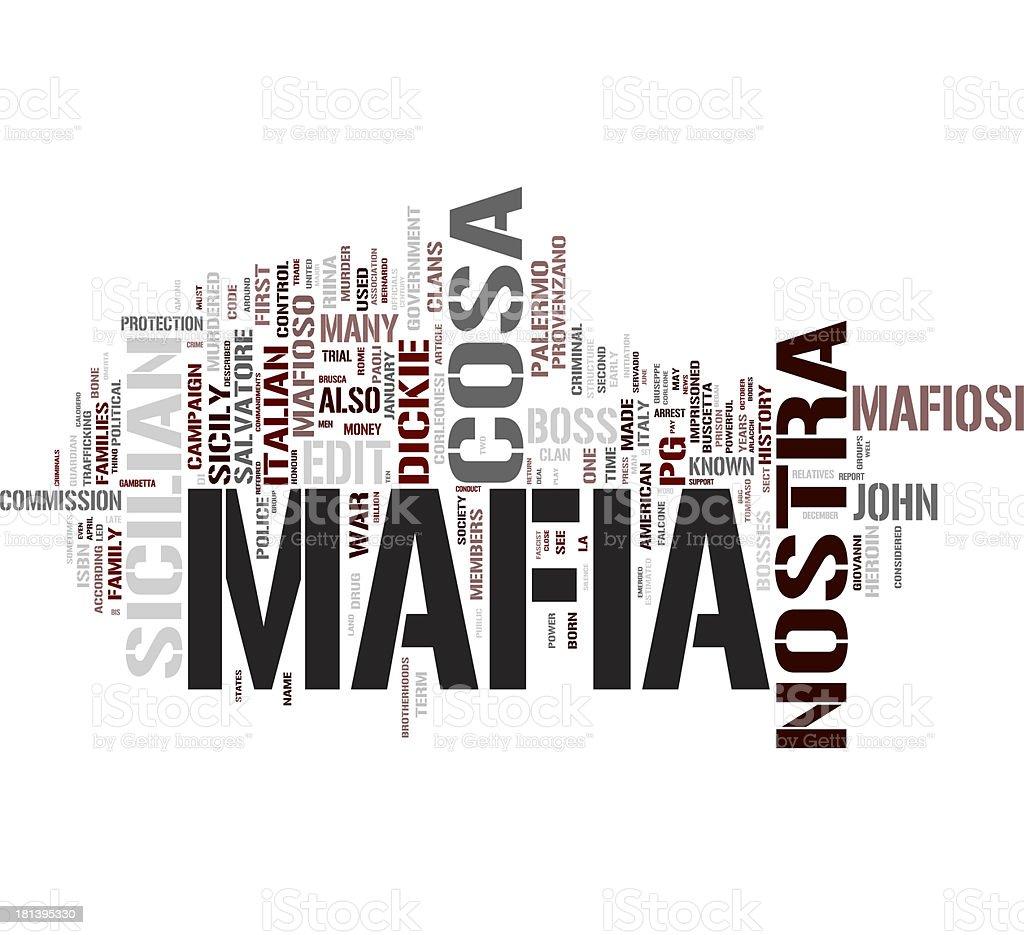 Mafia word cloud stock photo