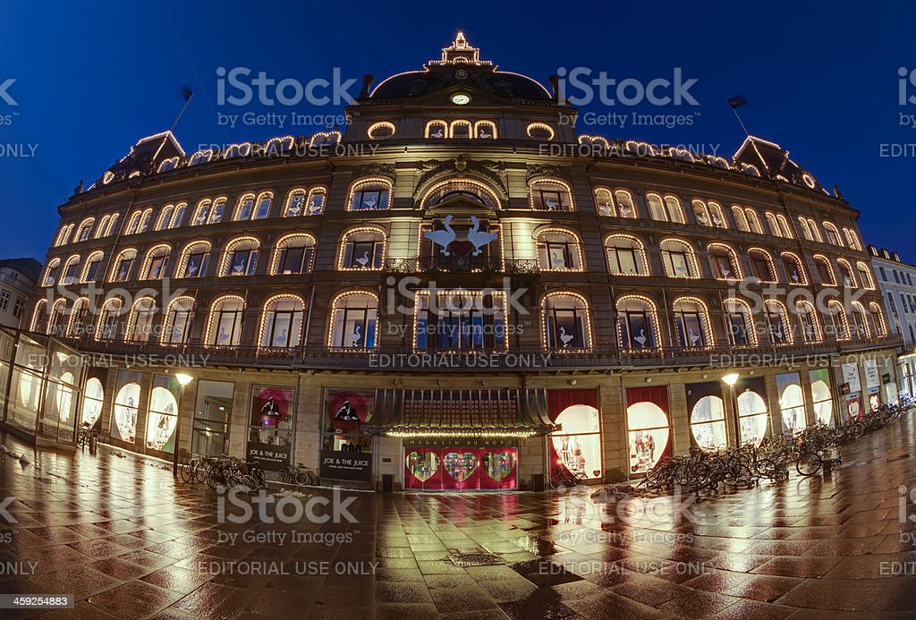 Magasin du Nord in Copenhagen at Christmas royalty-free stock photo