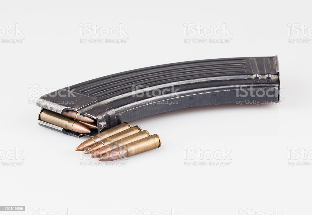 Magazine and Bullets royalty-free stock photo