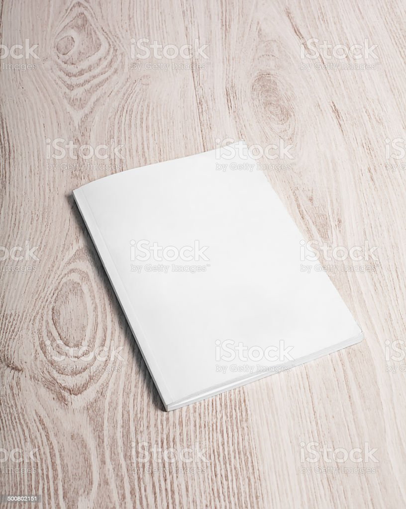 Magazine cover with blank page stock photo