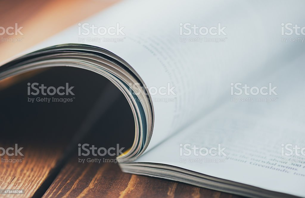 Magazine macro stock photo